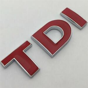 Red TDI Badge Emblem NEW For TRANSPORTER MK4 MK5 MK6 TDI GT GTI Aftermarket