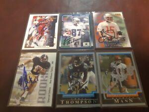 6 Signed Edmonton Eskimos Cards ( Earily 2000s) Tucker , Gaylor ,Mann