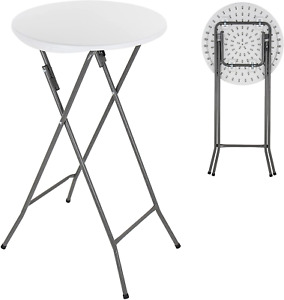 ANJI DEPOT Folding Bar Table,Folding Table Plastic Foldable Indoor & Outdoor for