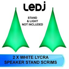 2 X LEDJ DOUBLE SIDED WHITE LYCRA SPEAKER STAND SCRIM COVERS LEDJ 312 SCRIMM