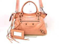 Auth BALENCIAGA The Town 240579 Pink Leather Handbag