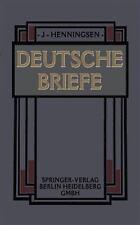 Deutsche Briefe by Johannes Henningsen (1905, Paperback)