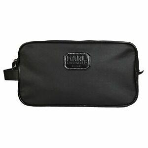 Karl Lagerfeld Mens Travel Toiletry Wash Bag in Black