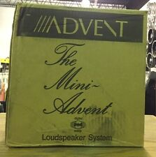 BRAND NEW Mini Advent Bookshelf Vintage Speakers -  Hardwood End Caps - A1004