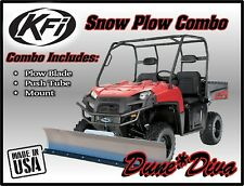 """KFI 66"""" Snow Plow Combo Kit: Polaris Ranger Full Size XP900 2013-18 -XP1000 2017"""