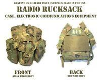 US MILITARY WOODLAND ALICE RADIO RUCKSACK BACKPACK RUCK w/ SHOULDER STRAPS VGC