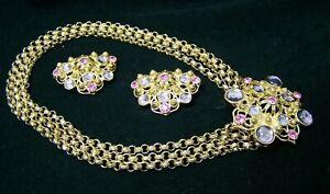 Jose Barrera for Avon 1992 Rhinestone Marbella Jewelry Set Demi