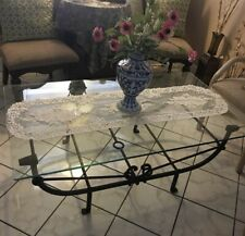 Diego Giacometti Attributed Iron and Glass Etruscan Style Coffee Table