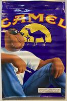 """Vintage HUGE Joe Camel Lights 1997 Cigarette Ad/Poster Man Cave Decor RJR 30x46"""""""