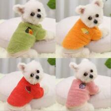 Dog Sweater Warm Thick Plush Outfits Outing Clothes for Cat Puppy Small Dogs Us