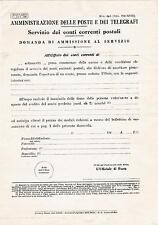 AMMINISTRAZIONE DELLE POSTE E TELEGRAFI CONTI CORRENTI POSTALI 1940 18-21
