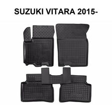 Rubber Car Floor Mats All Weather Custom fit Suzuki Vitara 2015-2017