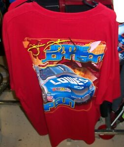 VINTAGE CHASE #48 LOWE'S RED TEE SHIRT JIMMIE JOHNSON COLOR CAR 2XL XXL NWT