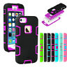 Hybrid Shockproof Rugged Rubber Hard Armor Case Cover For Apple iPhone 5 5S SE