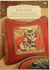 Needlework pattern: Cosy cats cross stitch design and instructions