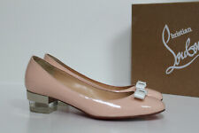 New sz 6 / 36 Christian Louboutin Zerlisixty Blush Patent Block Heel Pump Shoes