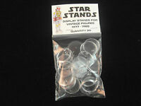 STAR WARS ACTION FIGURE DISPLAY STAND FOR VINTAGE FIGURES CLEAR X 100