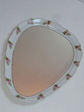 GENUINE Porzellan SPIEGEL 7439 Blumen Dekor rare bavarian porcelain wall mirror