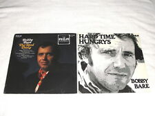 """(2) SEALED LP's - Bobby Bare """"The Real Thing"""" , """"Hard Time Hungrys"""" Folk/Country"""