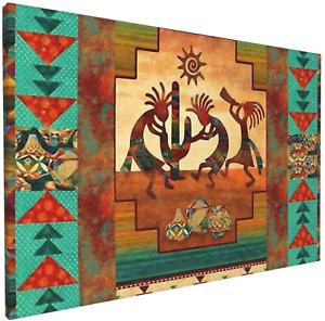Wall Art Canvas Painting, Southwest Kokopelli Native American Modern Decorative