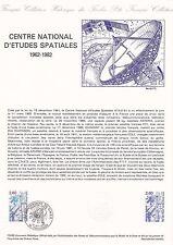 Document Philatélique Timbre 1er Jour : 15/05/ 1982 - Centre Etudes Spaciales