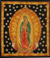 "Our Lady of Guadalupe Fabric 9.5"" x 11"" quilt block square *7 Catholic Religious"