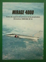5/1979 PUB DASSAULT BREGUET AVIATION SUPER MIRAGE 4000 SNECMA M.53 FRENCH AD