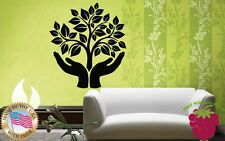 Wall Stickers Vinyl Decal Tree Green Peace Ecology Life Symbol Hands ig760