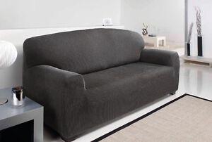 2 SEATER - Easy Stretch Elastic Fabric SOFA / SETTEE SLIP COVER Grey