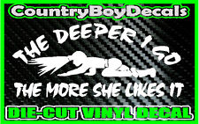 COAL MINER Deeper I Go  * Vinyl Decal Sticker * Diesel Truck County Car MUD 4X4