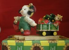 Mary Moo Moos John Deere Pulling Wagon Ltd Edition To 5000 Pcs #104197 New