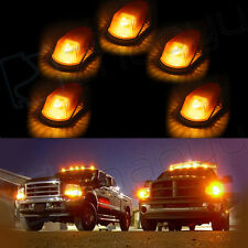 5x Amber Cab Marker Clearance Running lights+T10 Warm White LED Blubs For Ford