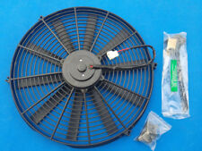 "16"" 12V 16 inch electric universal fan with mounting kit cooling radiator"
