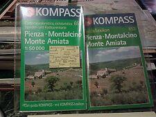 Cartina con guida turismo bicicletta Pienza Montalcino Monte Amiata mappa