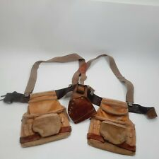 American Work Products AWP Carpenters soft leather Pouches Belt & Suspenders