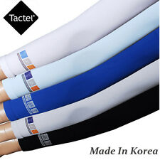 Tactel Large Size Cooling Arm Sleeve UV Sun Protection Stretch Compression White