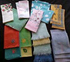 30 Fun And Funky Colorful Cloth Napkins Washable Reusable
