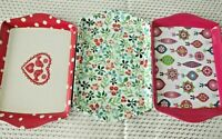 3 x Small Melamine Sandwich Cake Biscuit Serving Trays Tea Coffee Holder