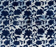 5 Yard Indian Hand Block Print 100% Cotton Soft Fabric Mud Resist Dabu Print 58