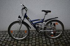 Cyco Jugendfahrrad 24 Gänge mit Federung und 24 Zoll Reifen blau