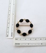 Vintage 14k yellow gold mourning brooch