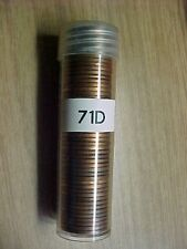 1971 D LINCOLN MEMORIAL PENNY ROLL