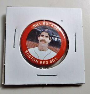 Vintage 1984 FUN FOODS BILL BUCKNER pin back button #100