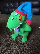 Rugrats Reptar Plush Green Dinosaur T-Rex Hat Slumber Stuffed Toy 1997