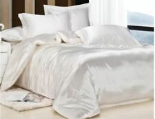 """100%SILK-SHEET Set 4pce,*A+Organic""""Luxury IVORY WHITE""""Skin+HairCare BUY NOW *BR"""