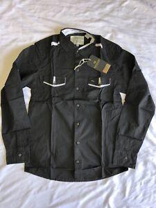 NEW Scotch & Soda Men's Long Sleeve button down dress shirt *BLACK MED-LRG-XLRG
