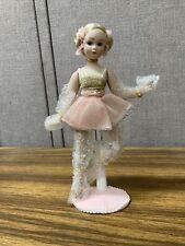 Porcelain Ballerina Doll - 10� Tall Stand Oaak Pink Tutu