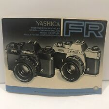 Yashica Fr 35mm Camera Instruction Manual / User Guide
