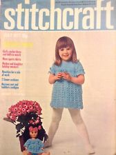 Stitchcraft Magazine Summer Fayre Girl's Crochet July 1971 052018nonrh
