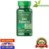 SAW PALMETTO 450 MG MEN'S PROSTATE & URINARY HEALTH HERBAL SUPPLEMENT 100 PILLS